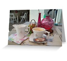 My daily fix at Bistrot de Paris and Une Belle-Vous Greeting Card