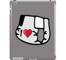I love I heart nappy diapers portrait iPad Case/Skin