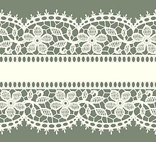 Lace, Seamless Pattern, Flowers. by Laces