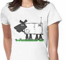 Radio controlled automatic sheep. Womens Fitted T-Shirt