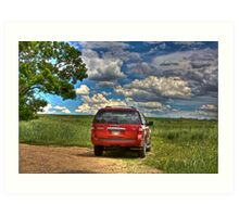 2008 Ford Expedition - Red Art Print