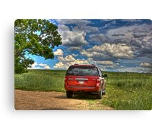 2008 Ford Expedition - Red Canvas Print