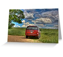 2008 Ford Expedition - Red Greeting Card
