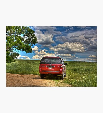 2008 Ford Expedition - Red Photographic Print