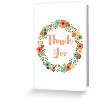 Vintage floral thanks greeting card vr2 Greeting Card