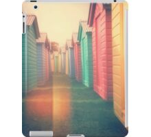 Beach Huts 02D - Retro iPad Case/Skin