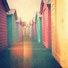 Beach Huts 02D - Retro by Pete Edmunds