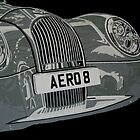 MORGAN AERO 8, FRONT, CLOSE-UP by mphcarpaintings