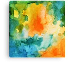 Orange Green Splash Canvas Print
