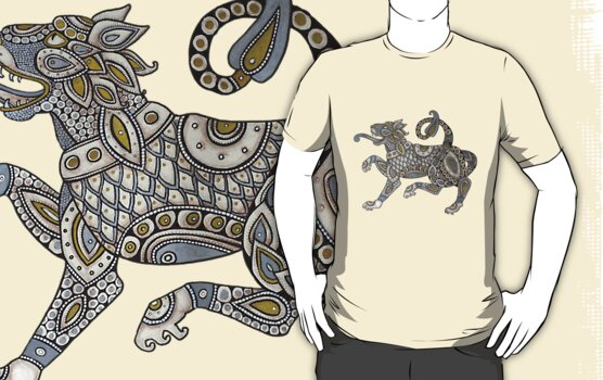 Celtic Lion Tee by Lynnette Shelley