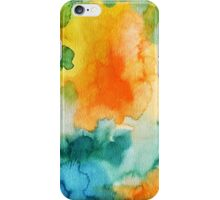 Orange Green Splash iPhone Case/Skin