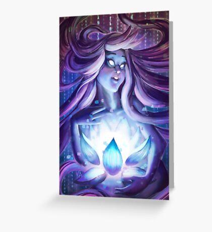 Pixel Lotus Greeting Card