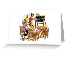 dick and jane play school Greeting Card