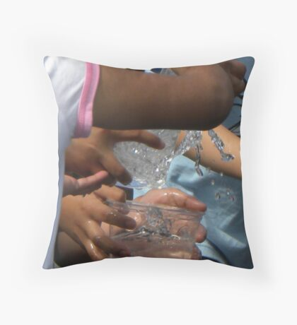 Waterplay Bucket Brigade Throw Pillow