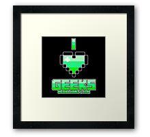 I <3 Geeks - Medic Framed Print