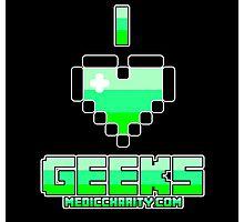 I <3 Geeks - Medic Photographic Print