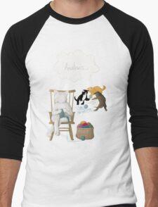 Of Cats and Yarn Men's Baseball ¾ T-Shirt