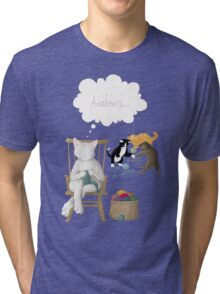 Of Cats and Yarn Tri-blend T-Shirt