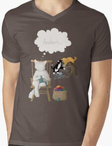 Of Cats and Yarn Mens V-Neck T-Shirt