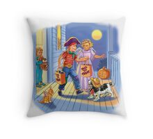 Dick and jane Trick or Treat Throw Pillow