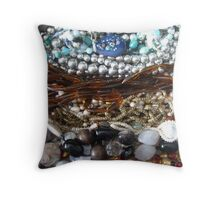 Baubles, bangles , beads Throw Pillow