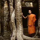 Monk at Angkor Wat by Keith Molloy