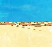Cartoon sand dunes by strmberg