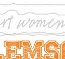 Smart Women Love Clemson Sticker