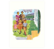Dick and Jane Family Art Print