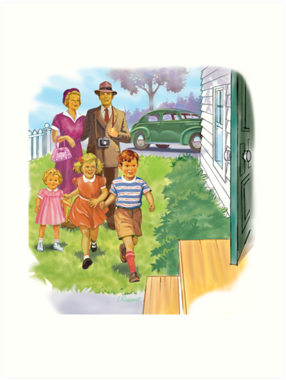 Dick and Jane Family by larry ruppert