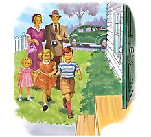 Dick and Jane Family Photographic Print