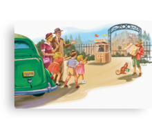 dick and Jane At the Zoo Canvas Print