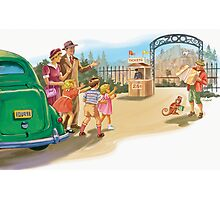 dick and Jane At the Zoo Photographic Print