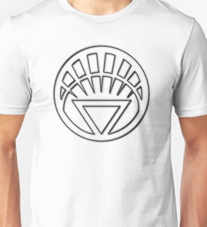 Embossed White Lantern Symbol Unisex T-Shirt