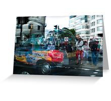 Rush hour in The Strand Greeting Card