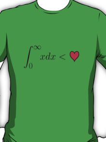 The Sum of All Values from Zero to Infinity are Less Than Love T-Shirt