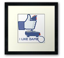 I Like Game - Facebook Framed Print