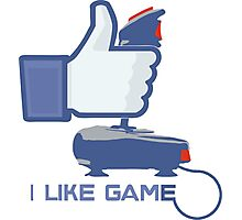 I Like Game - Facebook Photographic Print