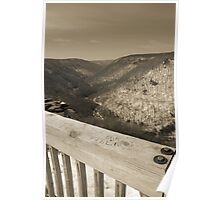 Lindy Point Overlook in Winter Poster
