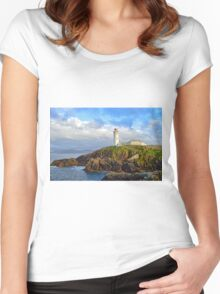 Fanad Head Lighthouse, Co. Donegal Women's Fitted Scoop T-Shirt