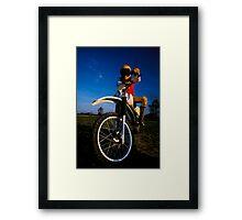 Dirt Biker Framed Print
