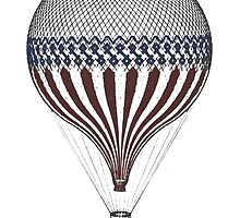 Vintage Hot Air Balloon by monsterplanet