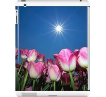 Field of Pink Tulips iPad Case/Skin