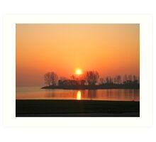 Sunrise XI (Lakeshore) Art Print