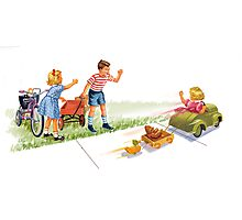 Dick and Jane and Sally: Go Go Go Photographic Print