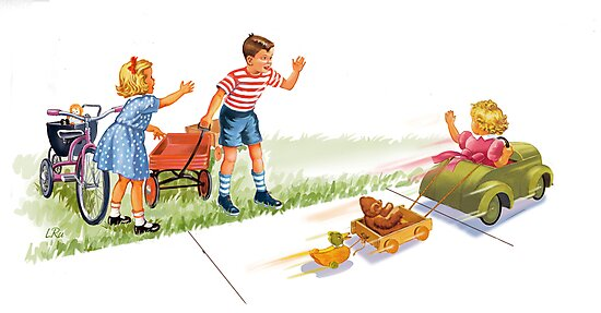 Dick and Jane and Sally: Go Go Go by larry ruppert