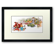 Dick and Jane: reckless driving Framed Print
