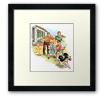 Dick and Jane :Play Ball Framed Print