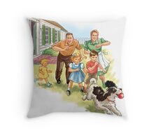 Dick and Jane :Play Ball Throw Pillow