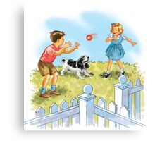 Dick and Jane pLay Ball Canvas Print